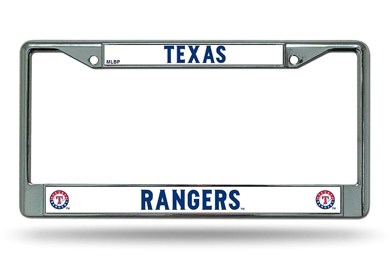 Texas Rangers NEW DESIGN Chrome Frame Metal License Plate Tag Cover Baseball