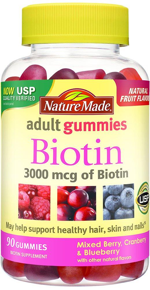 Nature Made Biotin (B7) 3000 mcg. Adult Gummies 90 Ct