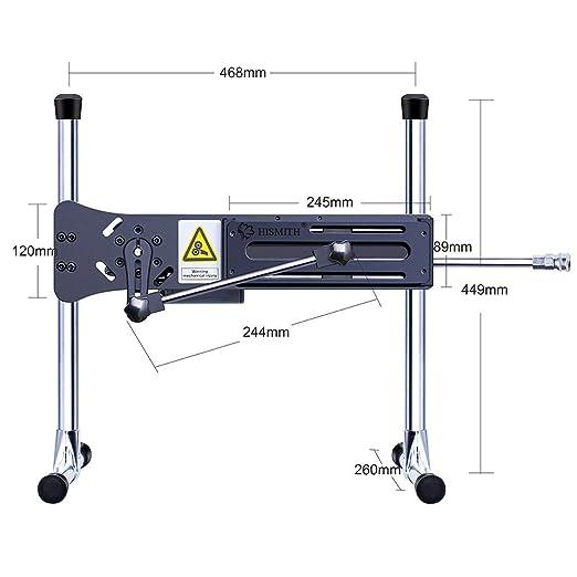 Máquina de sexo Premium Hismith con Consolador de silicona de dos capas, máquina de follar automática súper silenciosa con estuche de transporte (Control ...