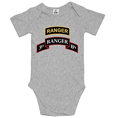 61ff837f25a Amazon.com  Pastcloud Baby Clothes US Army 3D Ranger Commitment Babies  Girls Clothing Summer Rompers for Newborn  Clothing
