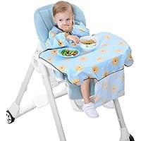 SaponinTree Coverall matfångare haklapp med ärmar, vattentät haklapp fästs på barnstolsbricka, bekväm och mjuk…