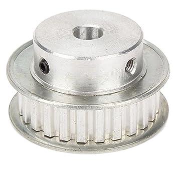 Uzinb XL 25 Dientes Diámetro 8 mm de aleación de Aluminio Rueda de polea síncrona DIY Modelo de 10 mm Accesorio para Correas dentadas: Amazon.es: Hogar