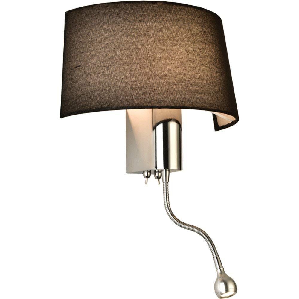 Wand Beleuchtung moderne, einfache Lesung Tuch Hotel Wohnzimmer Schlafzimmer Gang Nachttischlampe mit Schalter amerikanischen Wandleuchte, L 28 W14H45 cm Led