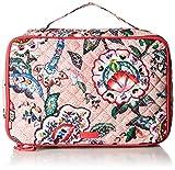 Vera Bradley womens Iconic Large Blush & Brush Case, Signature Cotton, Stitched Flowers, One Size