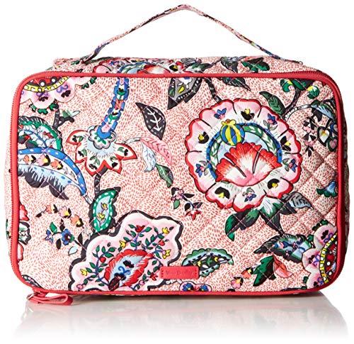 Vera Bradley womens Iconic Large Blush & Brush Case, Signature Cotton, Stitched Flowers, One Size ()