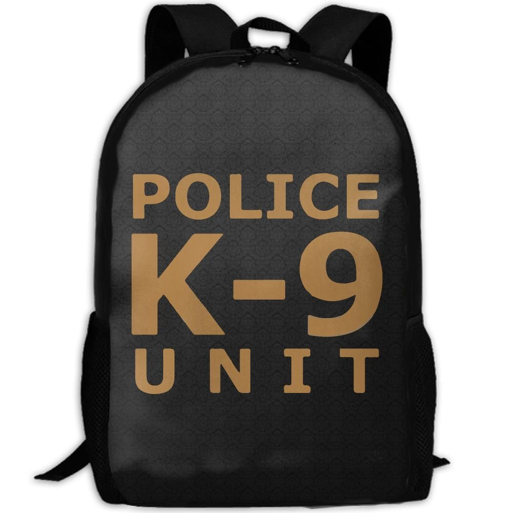 Police K9 ユニット ユニーク アウトドア ショルダーバッグ ファブリック バックパック 多目的 デイパック 大人用   B078RFBQT4