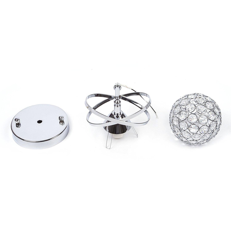Lightess Crystal Wall Light Luxury Ball Wall Sconce Lighting Fixture Mini Night Lamp Light For Home Bedroom Hallway