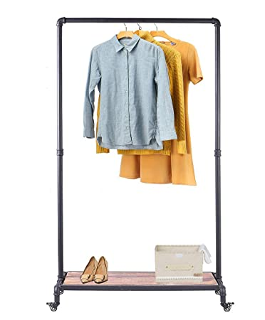 Amazon.com: diwhy Garment rack Heavy Duty ropa rack ...