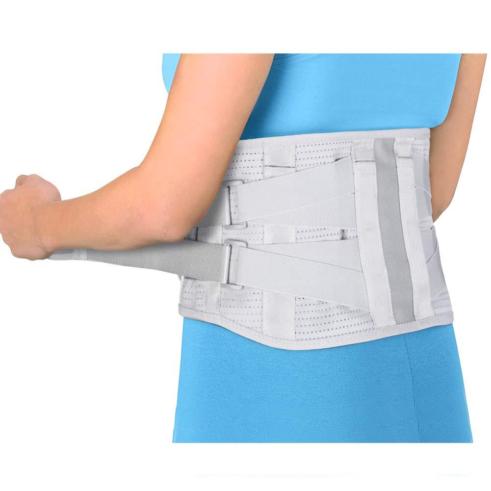 Supporto Lombare Spallaccio Posteriore, Cinghie di Compressione per Dolori Lombari, Ernia del Disco, Sciatica, Scoliosi