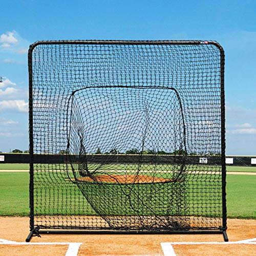Fortress Baseball Sock Net Screen - Pro Quality 7ft x 7ft Baseball Hitting Net for Soft Toss and Hitting Tee Practice [Net World Sports]