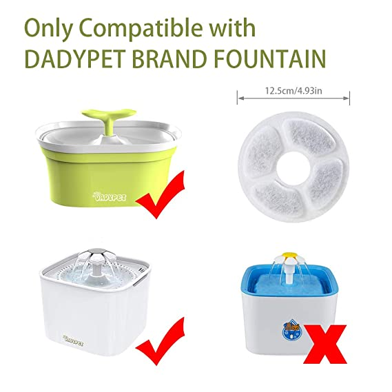 Amazon.com : DADYPET Cat Water Filters Pet Fountain Filter Cat Fountain Filters Cat Water DIspenser Replacement Filter for Dadypet Pet Water Fountain ...