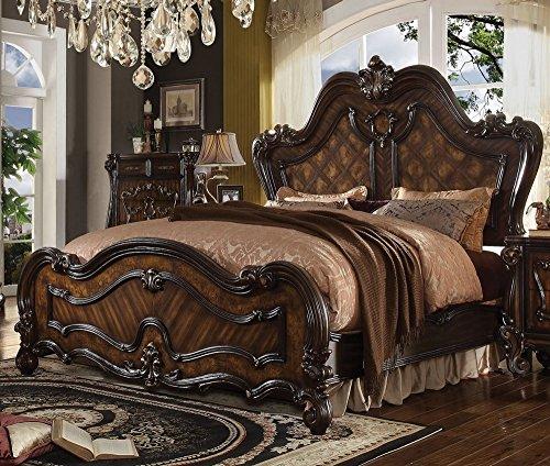 Acme Bedroom Set - Acme Furniture ACME Versailles Cherry Oak Queen Bed