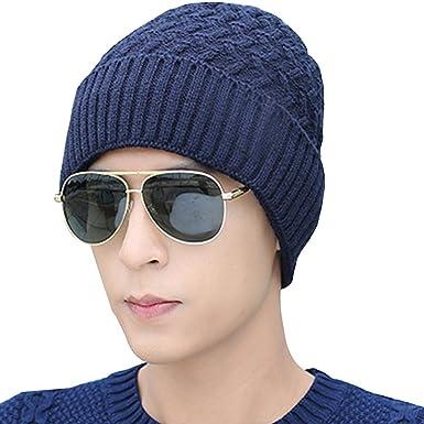 KINDOYO Sombrero de Punto cálido, Gorro de Invierno Hombres con ...