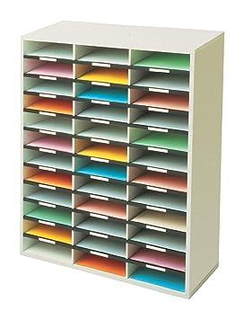 Fellowes - Mueble organizador de documentos, 36 compartimentos: Amazon.es: Oficina y papelería