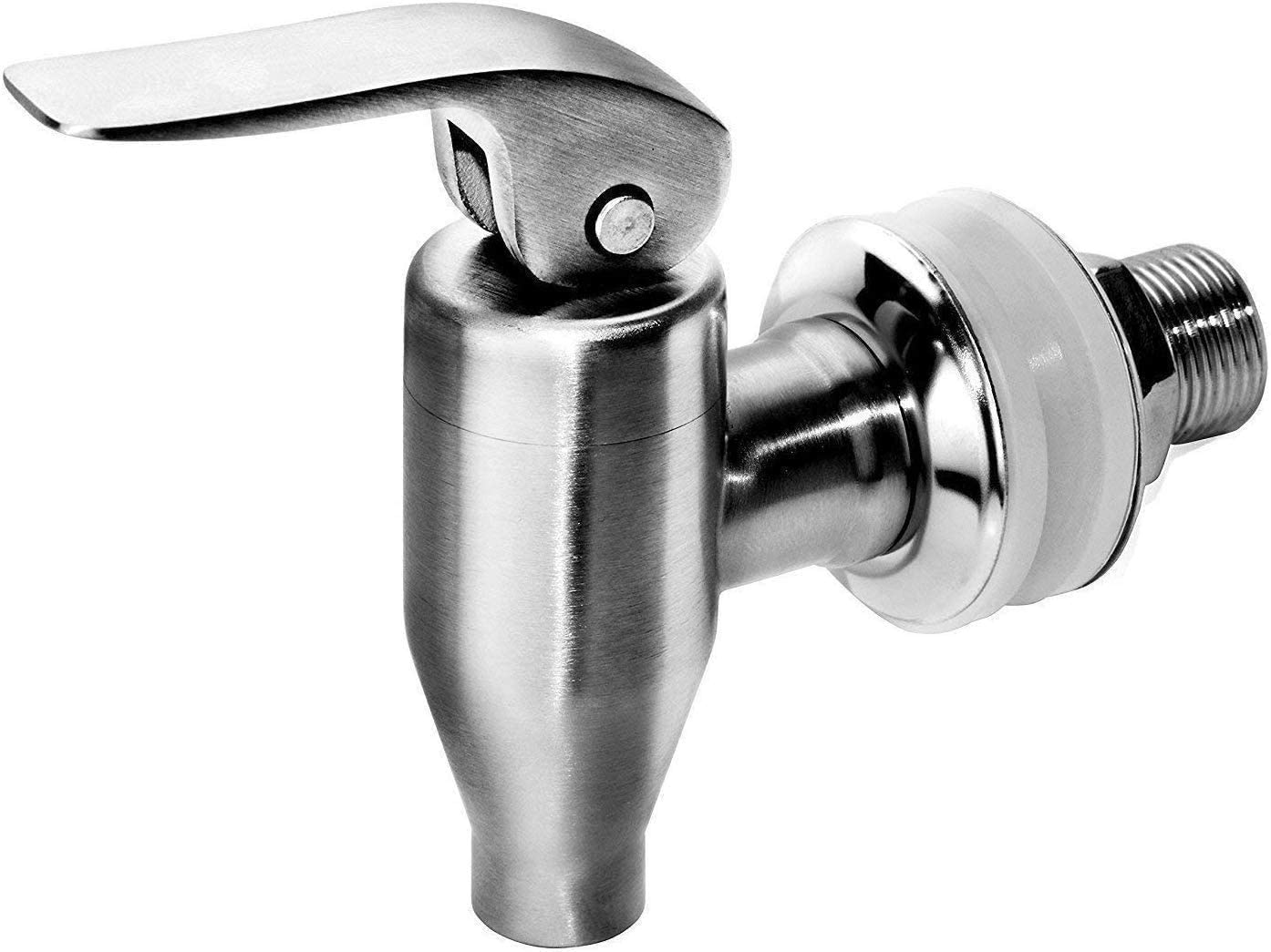 DOZYANT Beverage Dispenser Push Style Spigot,Stainless Steel Polished Finished, Water Dispenser Replacement Faucet, fits Berkey and Gravity Filter systems