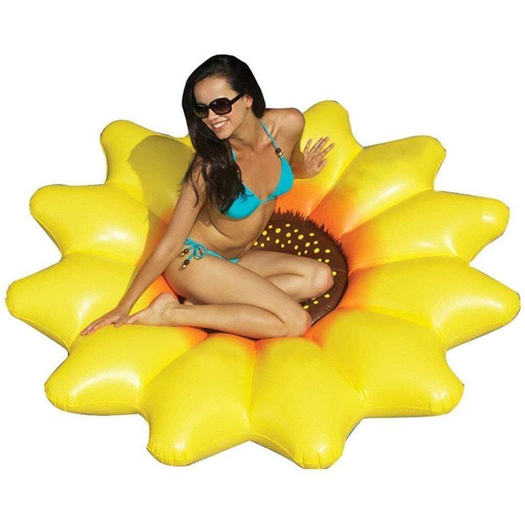 LPC Piscine Flotteur, Piscine Gonflable de Tournesol de 180 cm - Piscine d'été Gonflable pour Piscine en Plein air, Flottant, rangée de Jouets pour Adultes et Enfants Mode