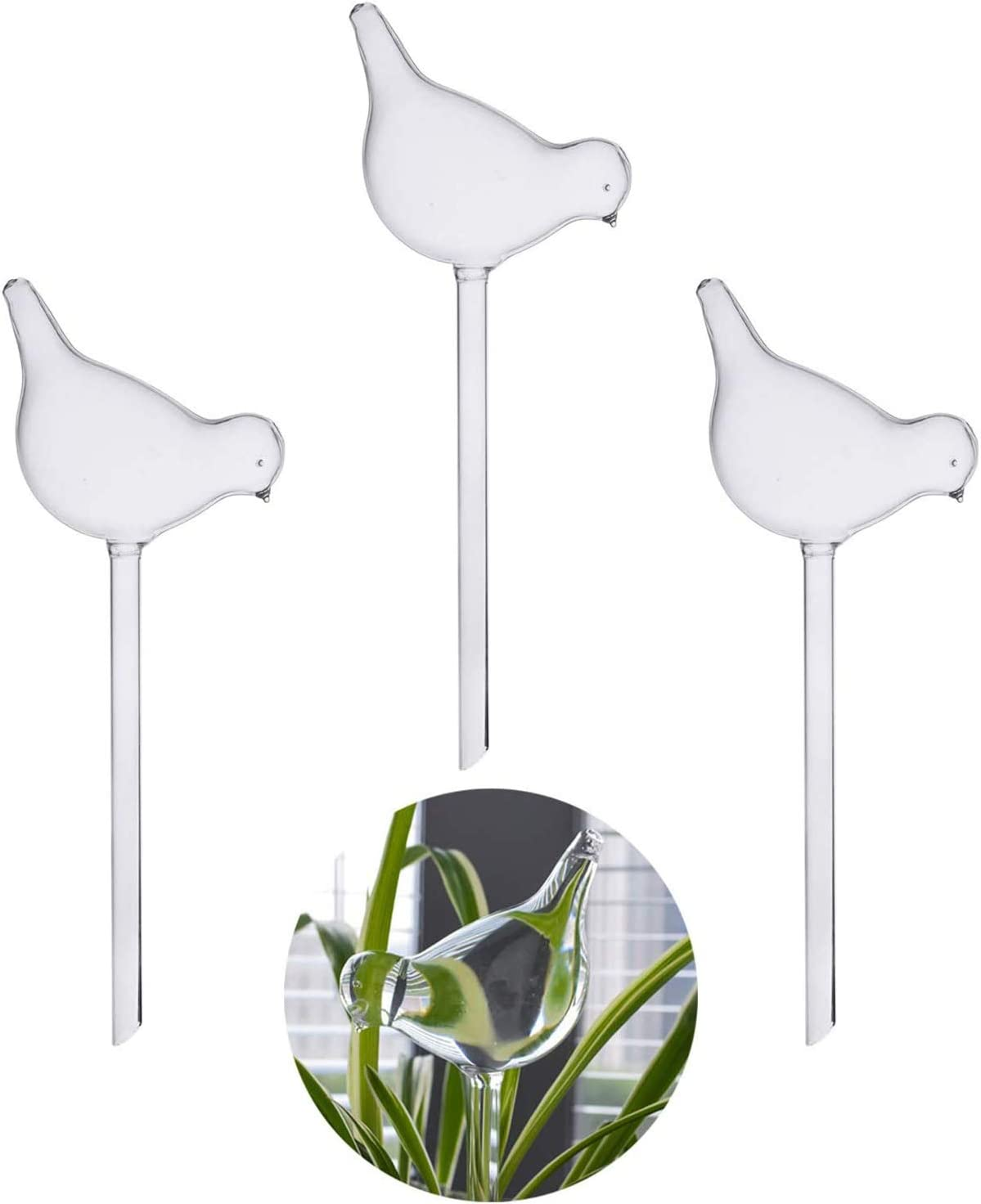 wyxhkj Clearance Sale For Garden Plant Watering Device Indoor Automatic Cute Birds Snail Swan Glass Clear