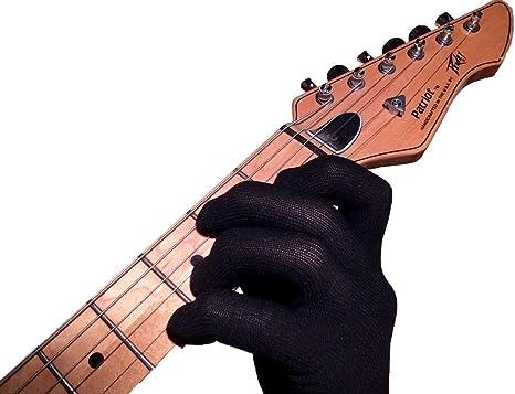 Guante de guitarra Guante de bajo para la punta delos dedos por Musician Practice Glove –S-1 guante de guitarra-Para músicos profesionales y principiantes- Continúe tocando sin dolor, sin problemas médicos: Amazon.es: Instrumentos