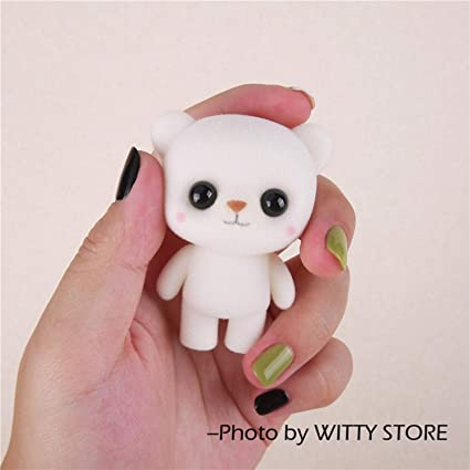 JEWH Super Cute Flocking Doll Toys - Kawaii Mini Cats Car Decoration Actions Figure - Toys