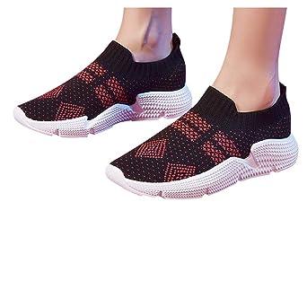Zapatillas Zapatillas de Mujer Deporte Planas de Malla ...