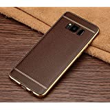 Excelsior Silicon Back Cover case for Samsung Galaxy S8 Plus   Coffee