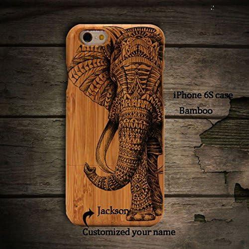 Anlye Elephant Samsung Galaxy S7 Wooden Case,Personalized Samsung Galaxy S7 Case Unique Real Handmade Samsung Sales