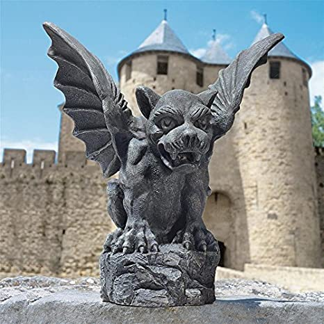 Amazon.com: Design Toscano Florentino Gárgola Estatua tamaño ...
