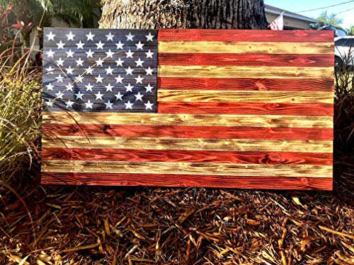 (Traditional American Wood Flag | USA | Rustic Wall Art | 36