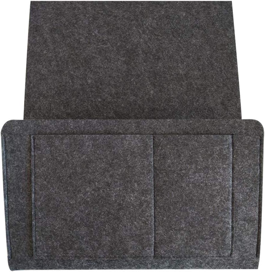Kaki LNIMIKIY Sac Rangement Simple Livre Chambre Solide Tablette Maison canap/é Support t/él/éphone Feutre Poche Grand Chevet Organisateur Suspendu Accessoires