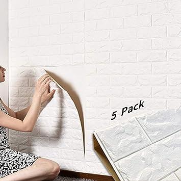 3D Ziegel Tapete, Wandaufkleber Stereo Wandtattoo Papier Abnehmbare  Selbstklebend Tapete Für Schlafzimmer Wohnzimmer Moderne Hintergrund