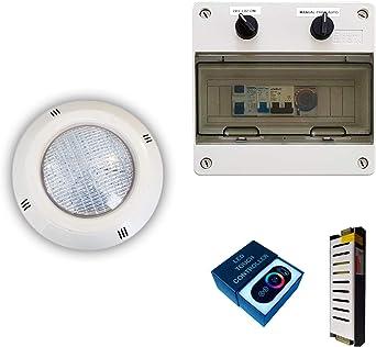 Pack Focos LED RGBV+ 18W cable de 4 hilos configurable + ...
