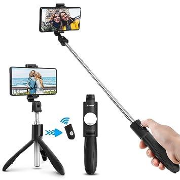 b96476474c0 ELEGIANT Palo Selfie Móvil Stick Bluetooth con Trípode para Viaje Autofoto  Extensible de Control Remoto Monopié 3 en 1 Obturador Deportivo Rotación  360 ...