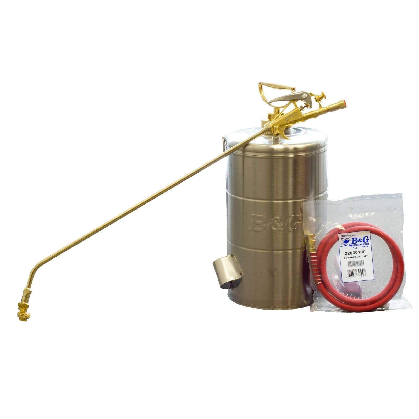 B&G 2 Gallon Stainless Steel Sprayer 24 Inch Wand 4 Way Tip 48''Hose N224-S-24 ;P#O455K5/U 7RK-B220731