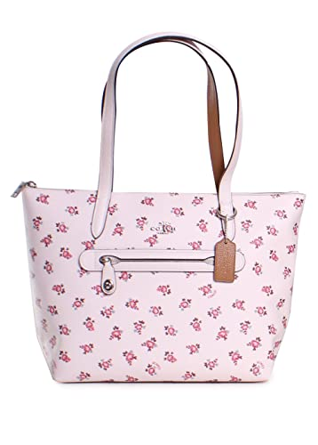 f93fec57889f Amazon.com  COACH Women s Floral Bloom Taylor Tote Sv Chalk Multi One Size   Shoes