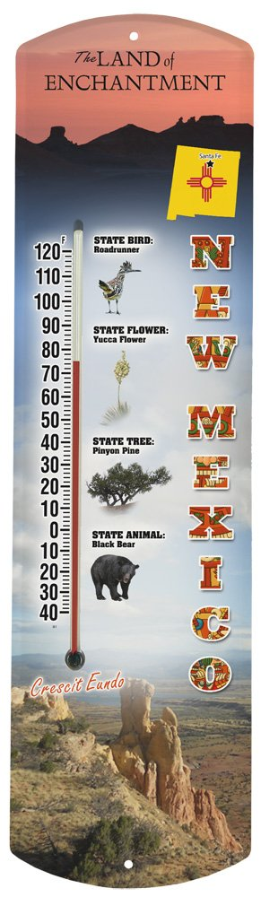 Heritage America by MORCO 375NM New Mexico Outdoor or Indoor Thermometer, 20-Inch