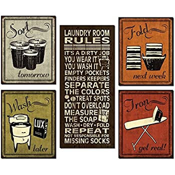 Trendy Extremely Popular Humorous Laundry Room Rules And Sign Posters One 8x18in Poster