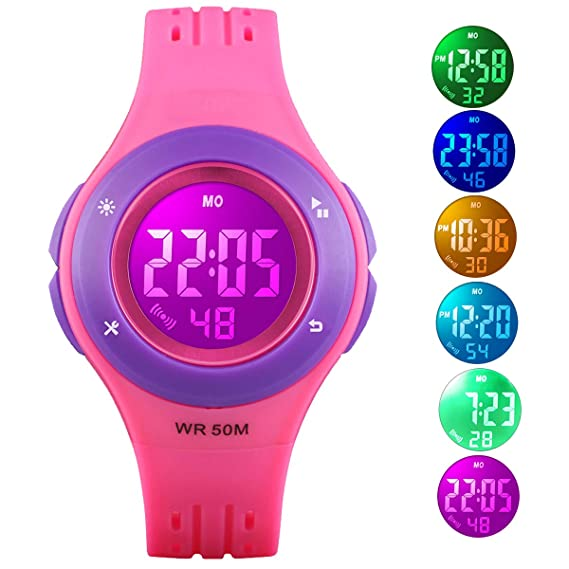 Watches Popular Brand Childrens New Waterproof Watch Girl Analog Digital Sports Led Electronic Digital Sports Electronic Watch Birthday Gift A1 100% Guarantee