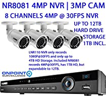 Lorex NR800 Series NR8081 4MP NVR with 4 3MP LNB3163B Bullet Cameras with Night Vision
