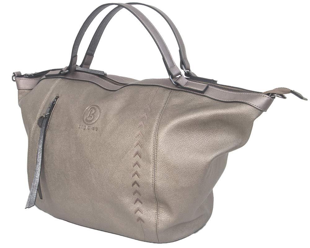 fde499135af7f bag lovers - Big One - Große Damentasche - bronze - stylische Schultertasche  in Premiumqualität I edle Handtasche für Damen I Trapez Bag I Shopper  ...