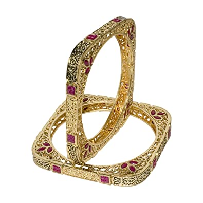 raj enamel zoom jewels bangle meenakari filigree gold meena bangles zevg k square set