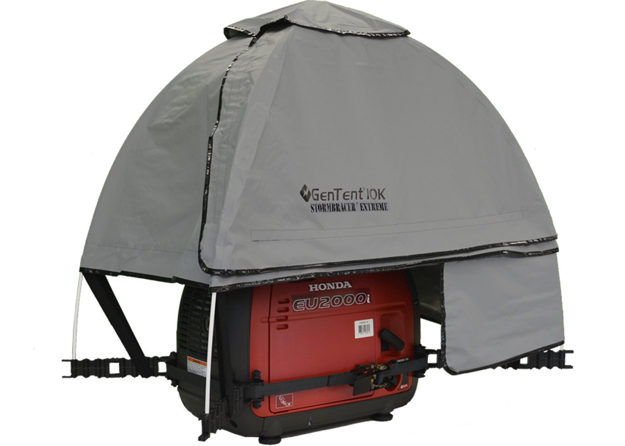 GenTent 10K Generator Tent Running Cover - XKI Kit (Extreme, GreySkies) - Compatible with 1000w-3000w Inverter Generators