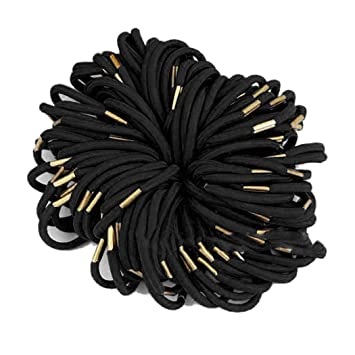 Amazon.com   100 Pcs Set Women Elastic Hair Ties Band Ropes Ring Ponytail  Holder Accessories   Beauty 056baff0580