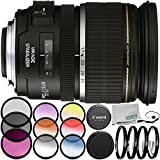 Canon EF-S 17-55mm f/2.8 IS USM Lens 7PC Accessory Bundle – Includes Manufacturer Accessories + 3PC Filter Kit (UV + CPL + FLD) + MORE – International Version (No Warranty)