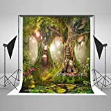 Fairytale Photography Backdrop 5x7 Green Tree Forest Outdoor Newborn Photo Studio Background Kids Baby Birthday Picture