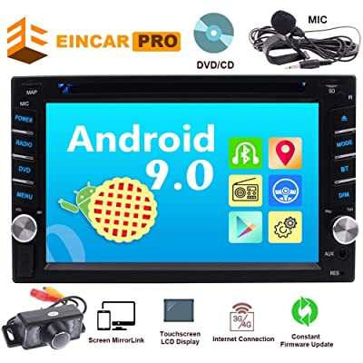 Car Radio Android 9.0 Car Audio DVD/CD Player 2 Din Head Unit in Dash Double Din Car Stereo 6.2 Inch Multi Touch Screen Bluetooth Support 1080P Video WiFi AM FM Radio Free Backup Camera External MIC: Car Electronics