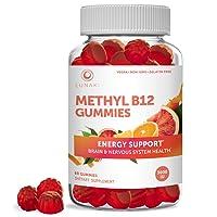 Lunaki Methyl B12 3000 mcg Gummies for Adults - Organic Gummy Non-GMO Vegan Paleo...