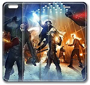 """Arrow The Flash iPhone 6 Plus Plus Case, Leather Cover for iPhone 6 Plus (5.5"""") Premium Soft PU Leather Wallet Cover - Verizon, AT&T, Sprint, T-Mobile, International, and Unlocked with Black PC Hard Case Inside for iPhone 6 Plus by iCustomonline"""