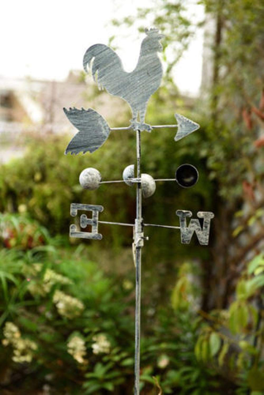 Retro Metal Weather Vane with Rooster Home Garden Decoration