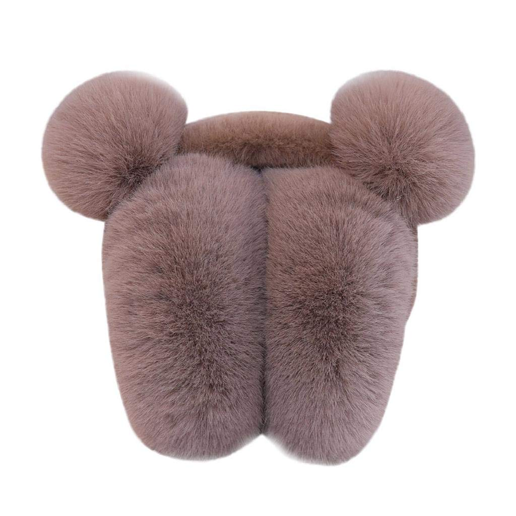 Fur Earmuffs Fashion Warm Woman Warm Ear Cove Knitted Earmuffs