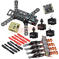 Hobbypower Carbon 280 Quadcopter 280mm Mini Drone Frame With MT2204 2300KV Motor + BLHeli 12A ESC + CC3D Flight Controller + 5045 Props